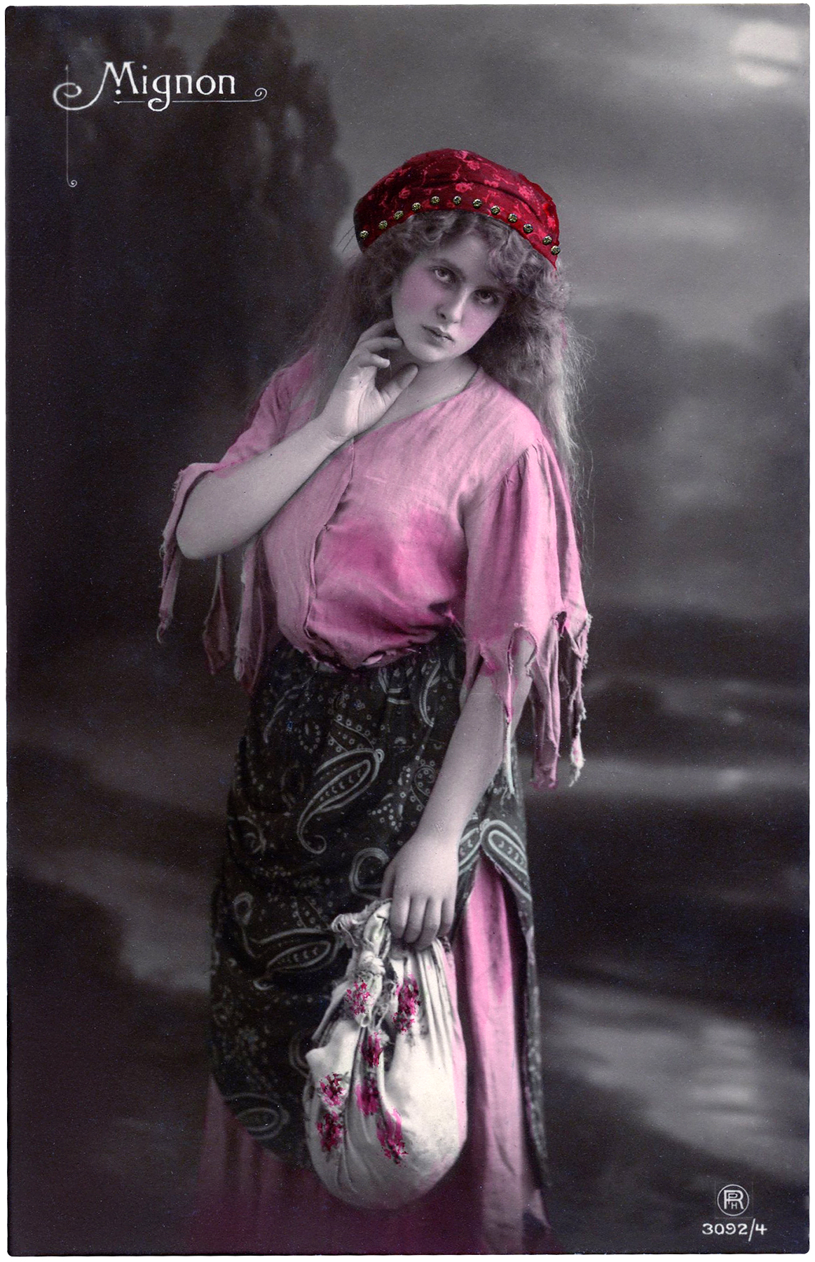 Lovely Vintage Gypsy Photograph