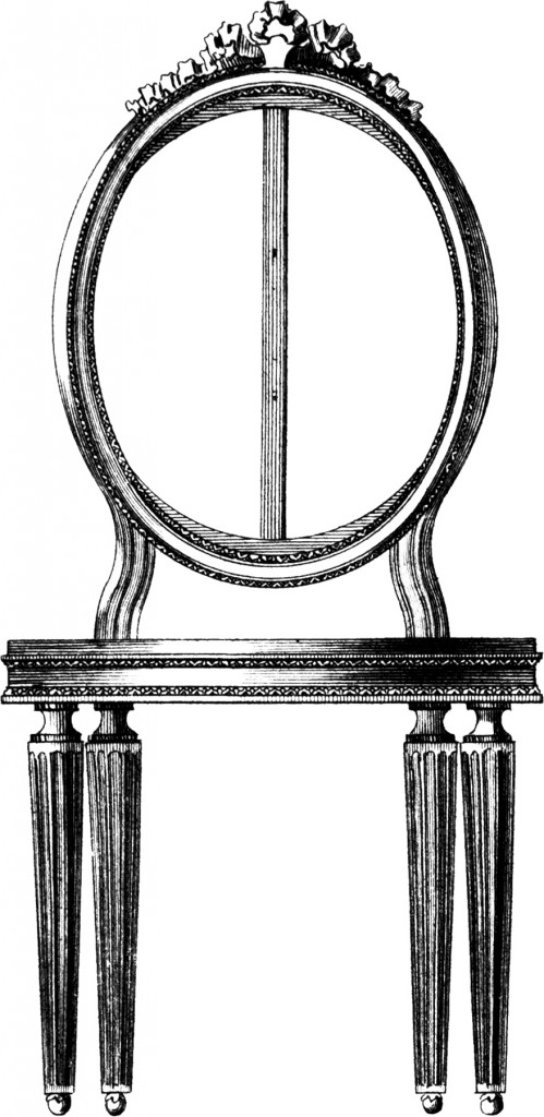 Oval Back French Chair Image