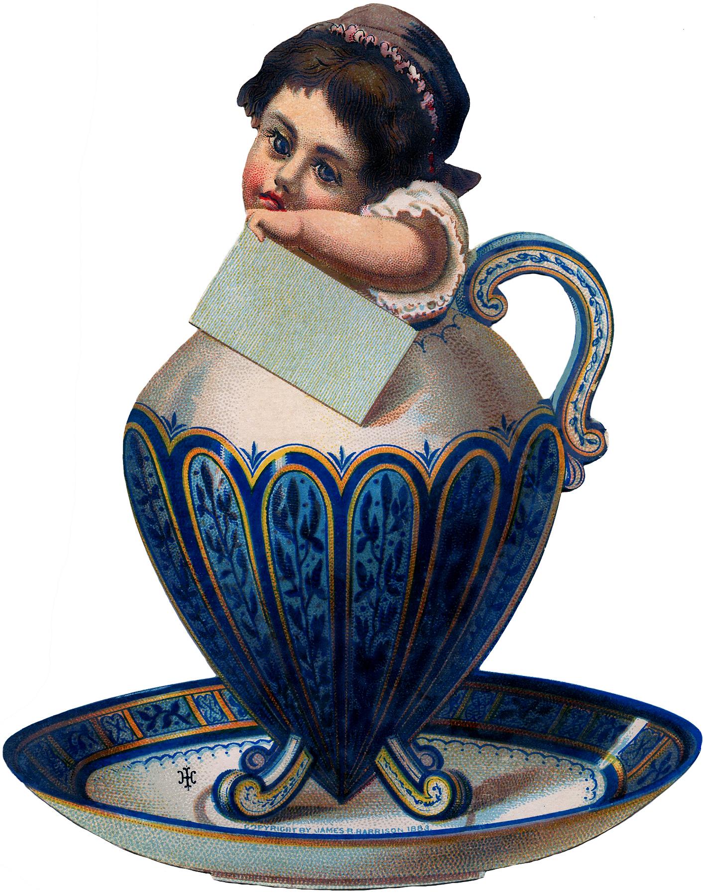 Quirky Sugar Bowl Girl Image