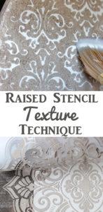 Raised Stencil Texture Technique