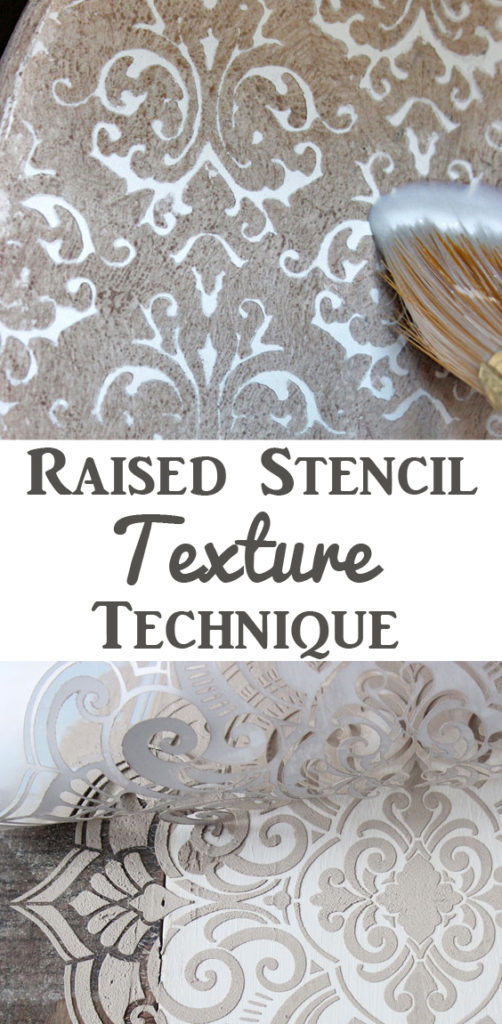 Raised Stencil Texture Technique