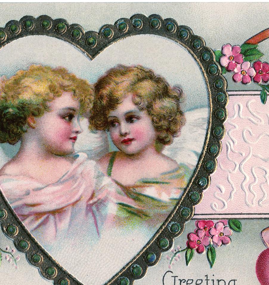 Old Fashioned Wedding Songs: Victorian Cherubs Valentine Image