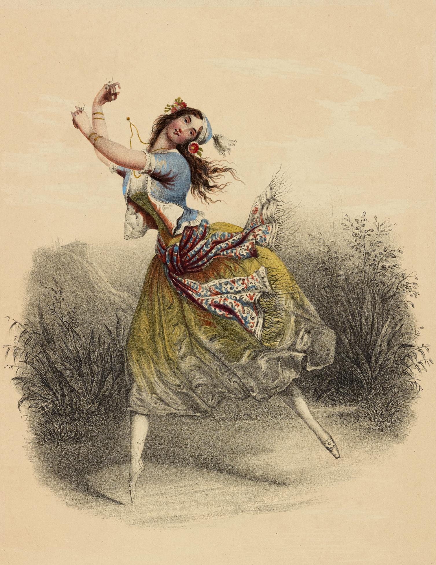 Vintage Gypsy Ballerina Image