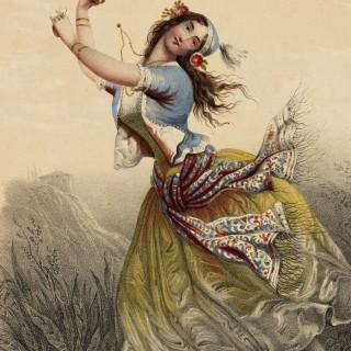 Exquisite Vintage Gypsy Ballerina Image!