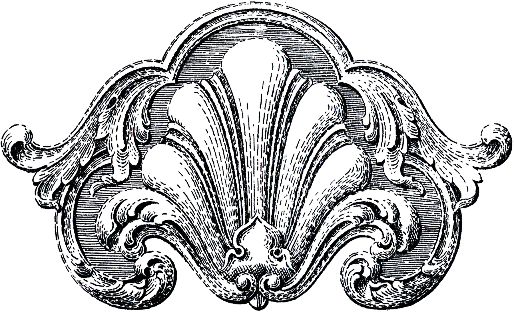 Vintage Ornate Scroll Ornament Image