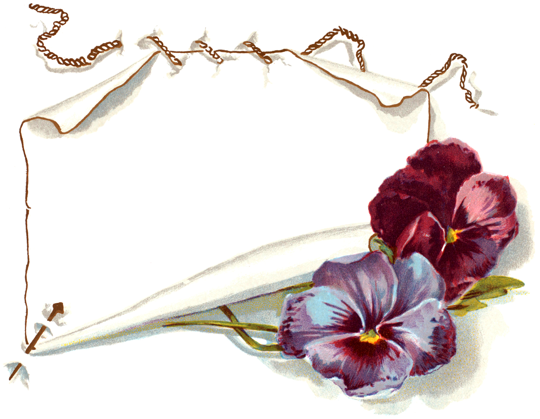 Gorgeous vintage pansy label image the graphics fairy for Graphics fairy