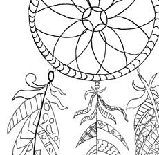 Free Printable Dream Catcher Coloring Page The Graphics Fairy