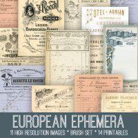 European Ephemera Kit