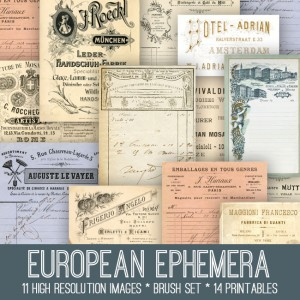 European Ephemera Kit