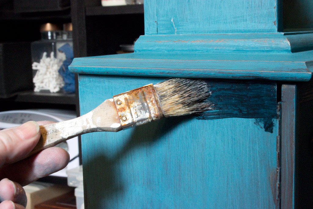 Faux Verdigris Finish Paint Technique