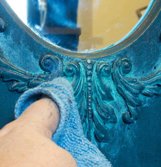 15 Faux Verdigris Paint Technique Wiping Back