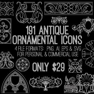 Introducing Ornamental Icons –  a Graphics Mega Bundle!!