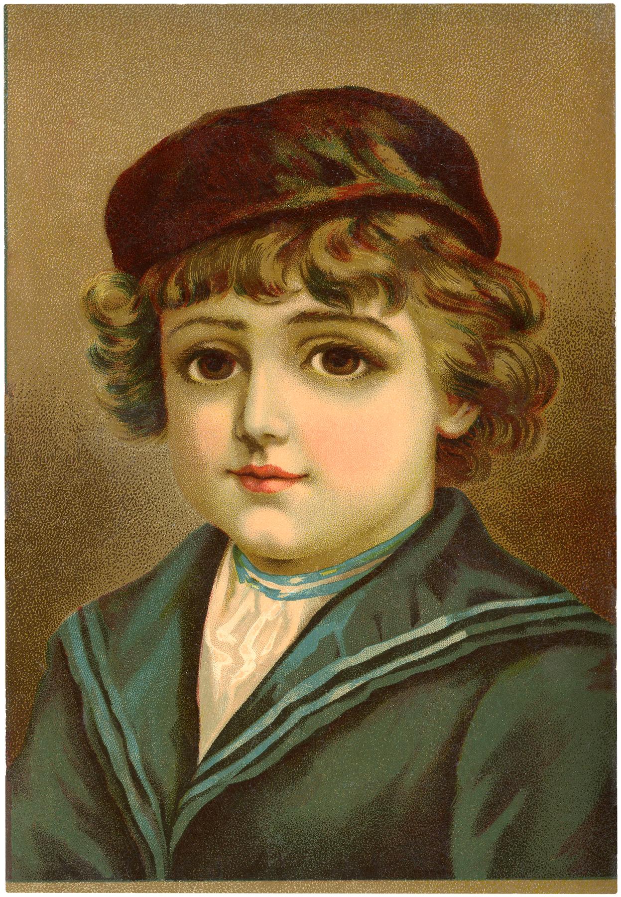 Big Eyed Victorian Boy Image