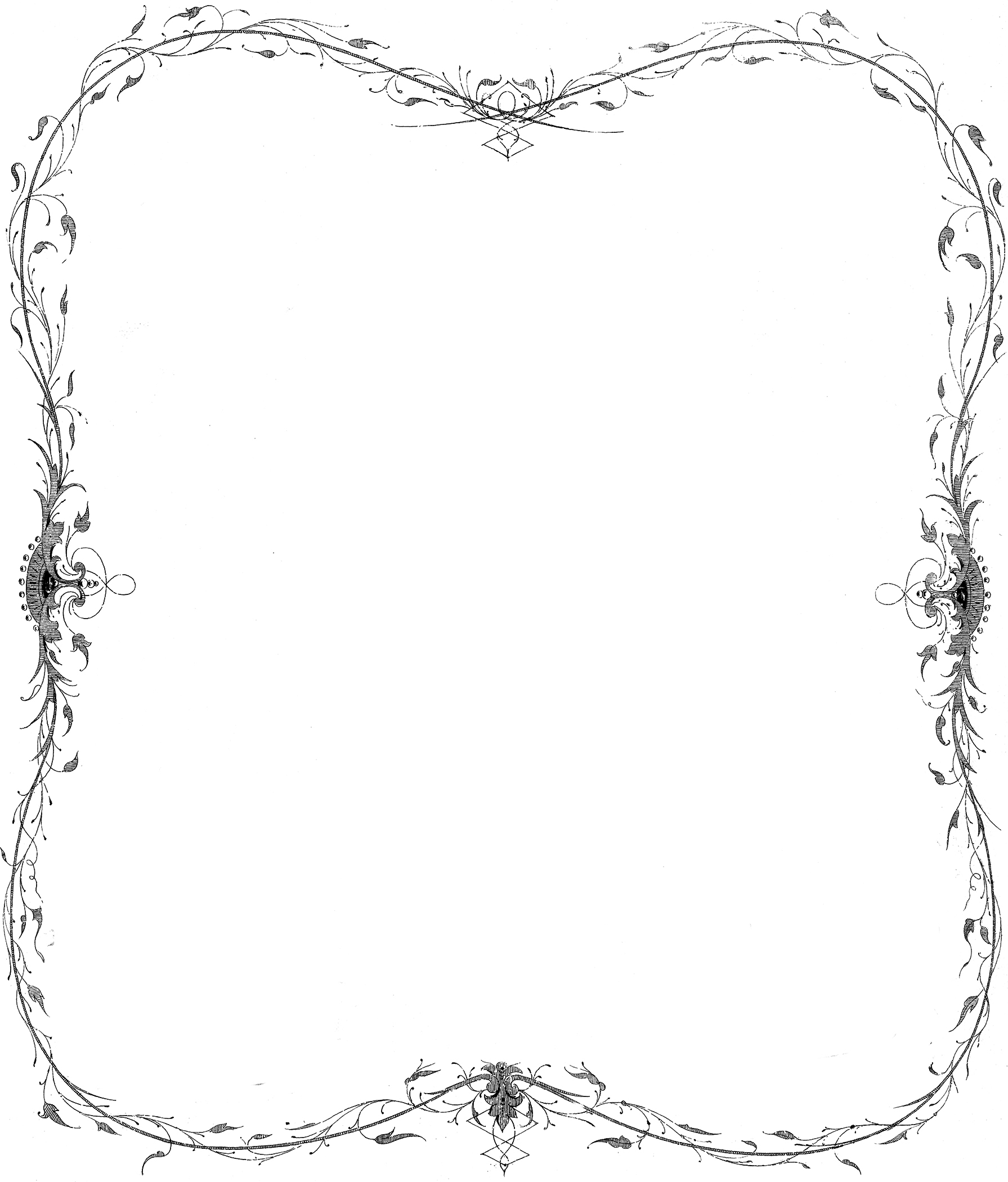 Delicate Antique Frame Image