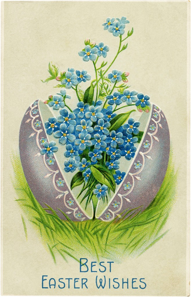 Easter Egg with Flowers Image