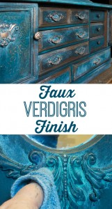 Faux Verdigris Finish