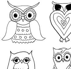 Free Owls and Mushrooms Coloring Page!