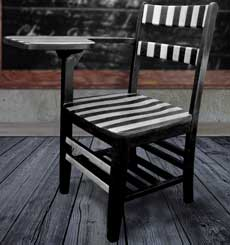 Paint Bold Stripes on Furniture!