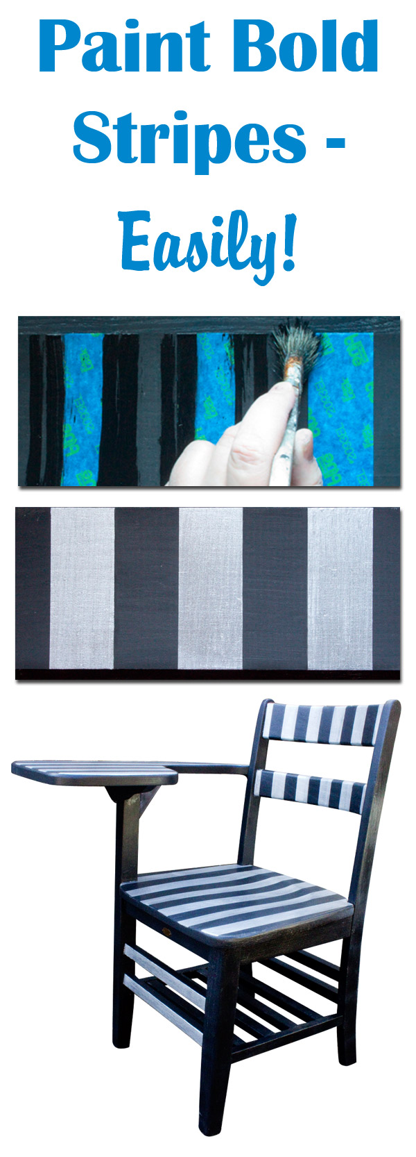 Paint Bold Stripes On Furniture! Thicketworks For Heirloom