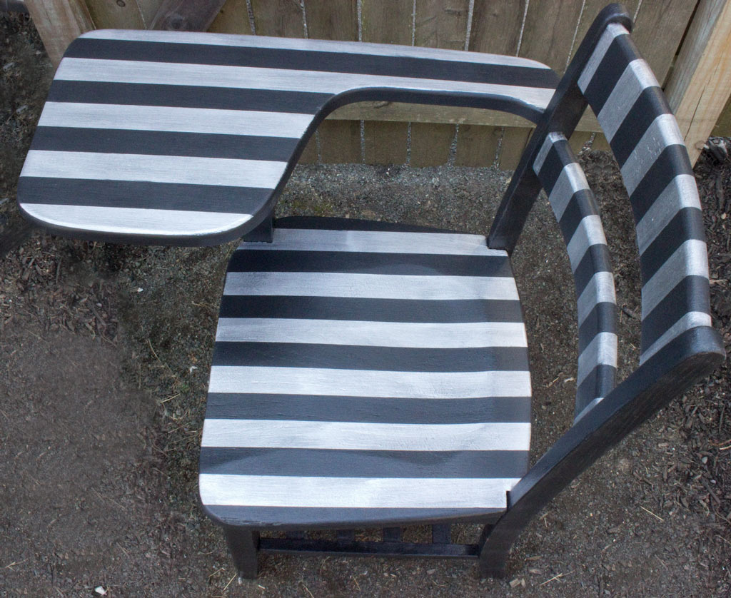 Paint Bold Stripes on Furniture! Thicketworks-for-Heirloom-Tradtitions-at-The-Graphics-Fairy-From-Above
