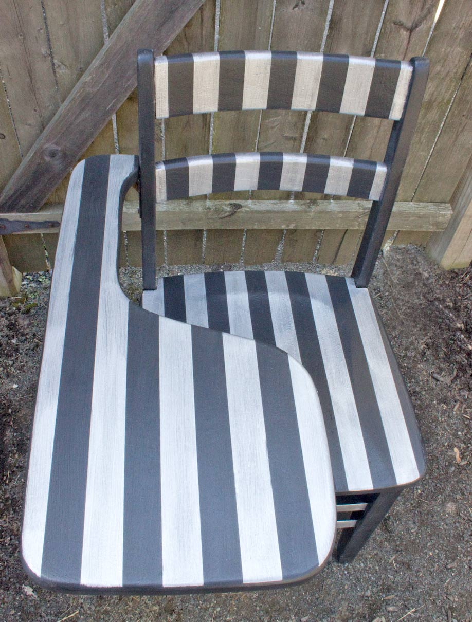 Paint Bold Stripes on Furniture! Thicketworks-for-Heirloom-Tradtitions-at-The-Graphics-Fairy-Front-View