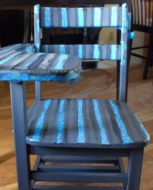 Paint bold stripes on furniture - Painting stripes on furniture ...