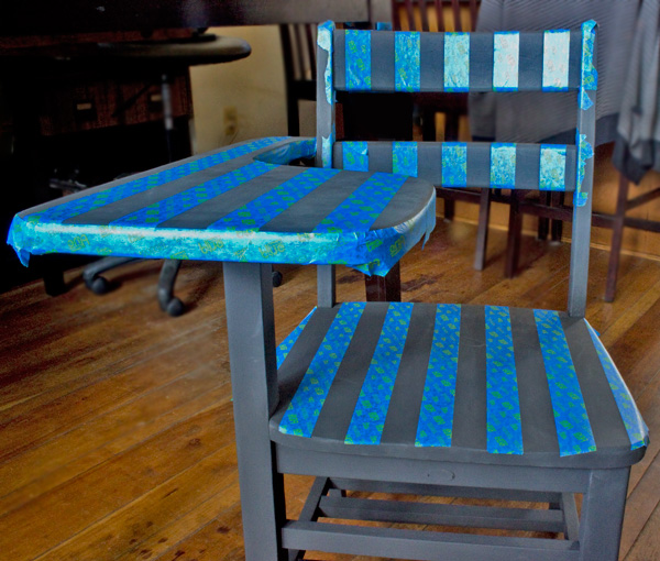 Paint Bold Stripes on Furniture! Thicketworks-for-Heirloom-Tradtitions-at-The-Graphics-Fairy-Tape-Removal