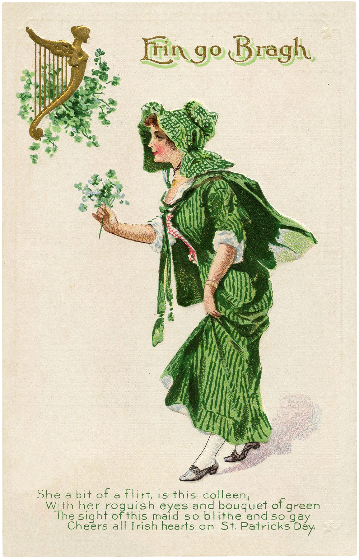 St Patrick's Day Lady Image
