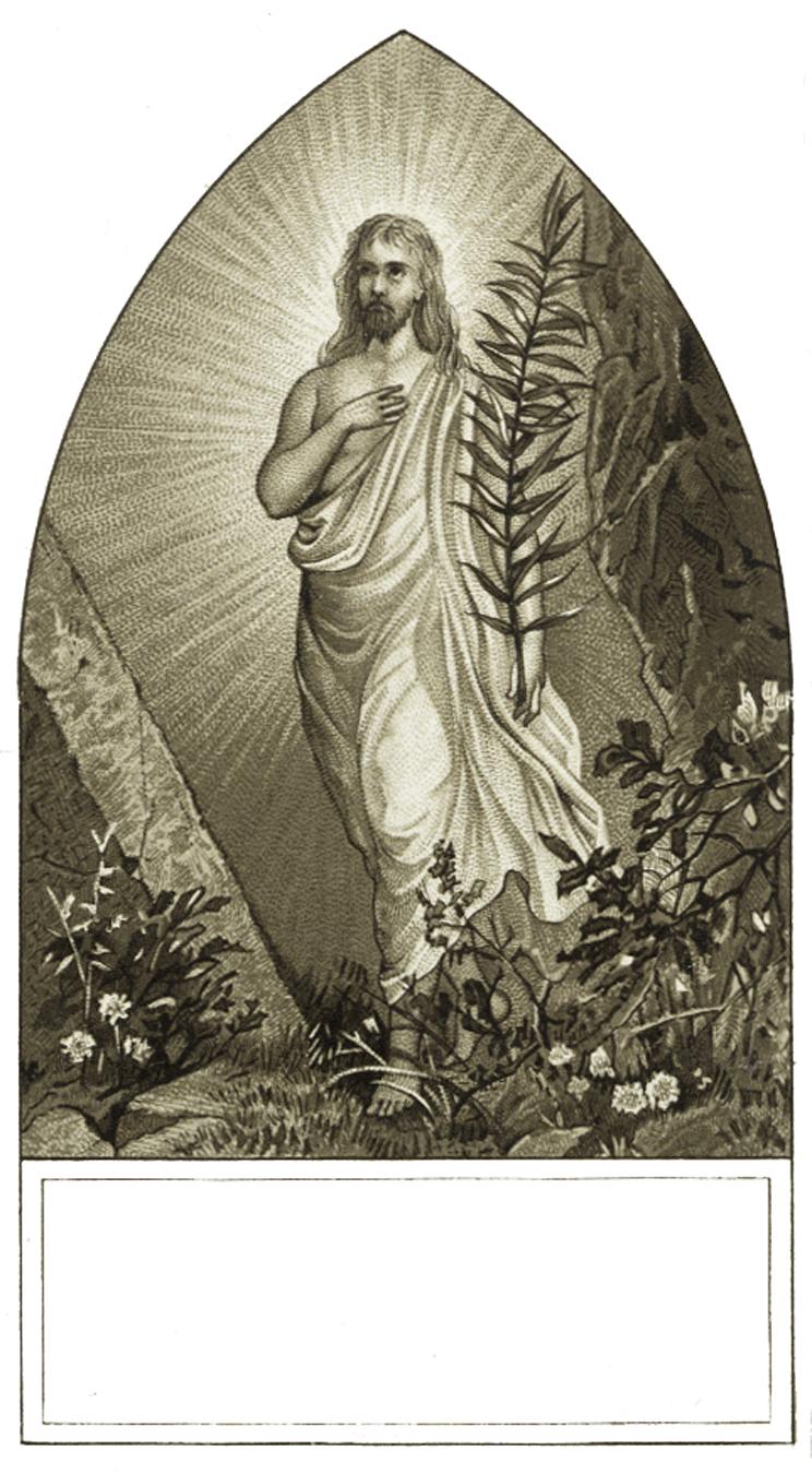 Vintage Easter Jesus Image