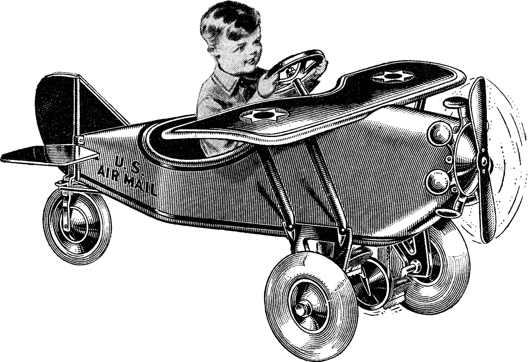 Vintage Toy Airplane Image