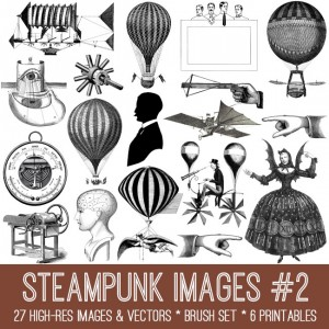 Steampunk Images Kit