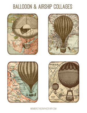 steampunk_balloon_collage_graphicsfairy