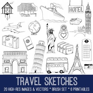 Hand Drawn Travel Bundle