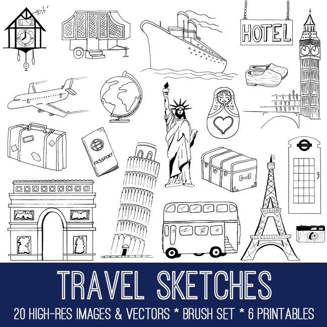 Hand Drawn Travel Bundle