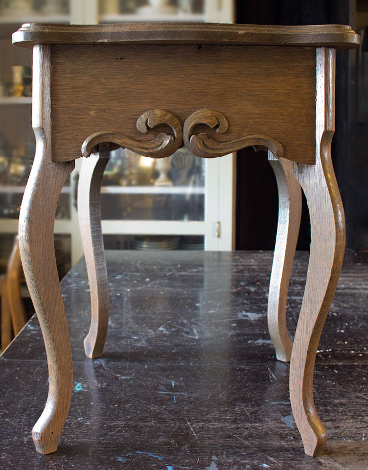 03 Create-an-Aged-Copper-Finish-Oak-Table-Before