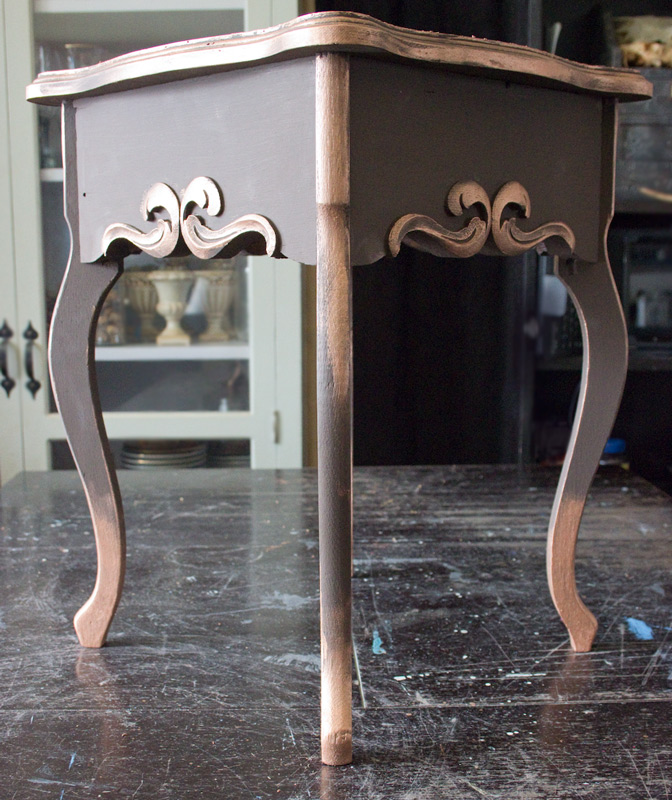 10 Create-an-Aged-Copper-Finish-Oak-Table-Add-Copper-Highlights-Complete
