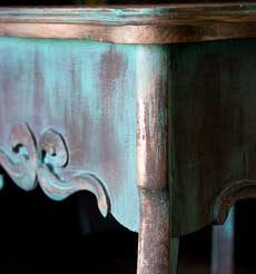 Create an Aged Copper Paint Finish!