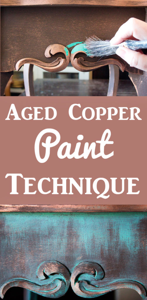 Create an Aged Copper Paint Finish
