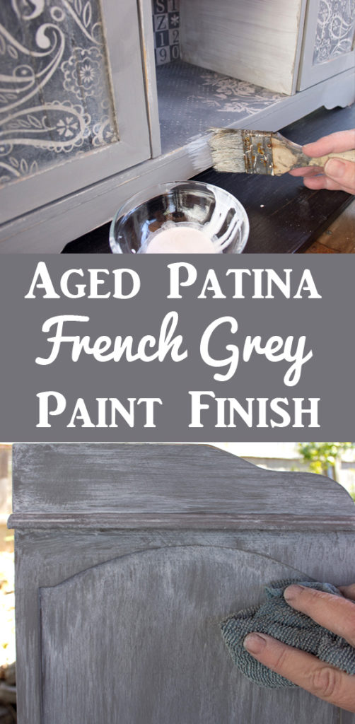 French Grey Aged Patina Paint Finish