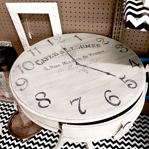 Todayu0027s Reader Feature Is This Awesome DIY French Clock Table, Which Was  Submitted By Geniece. After Purchasing The Vintage Table At An Auction, ...