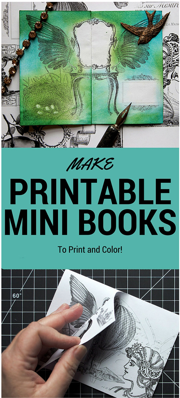 It is an image of Modest Mini Books Printable