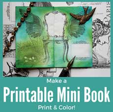 Make Printable Mini Books to Print and Color!