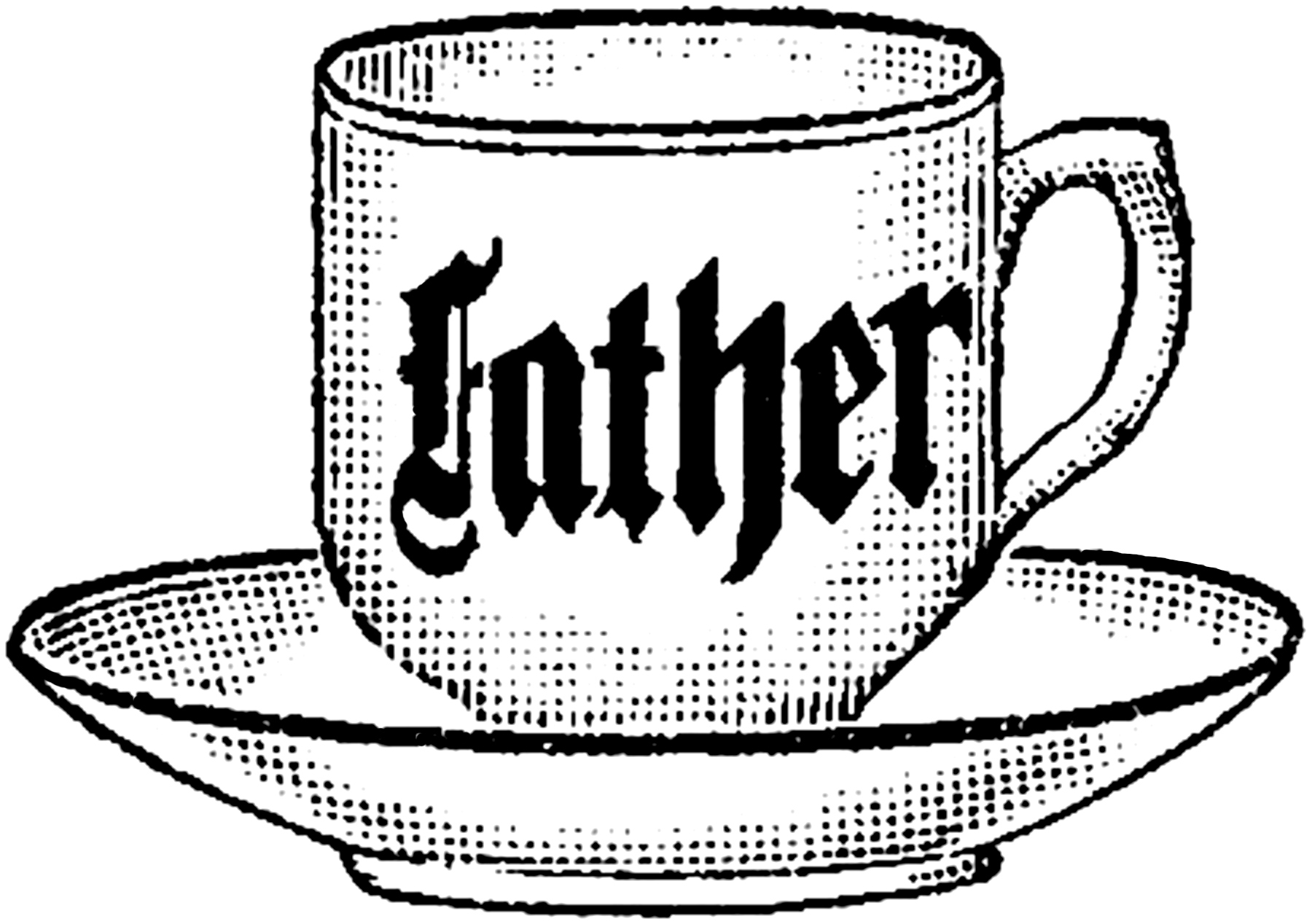 Vintage Father Teacup Image