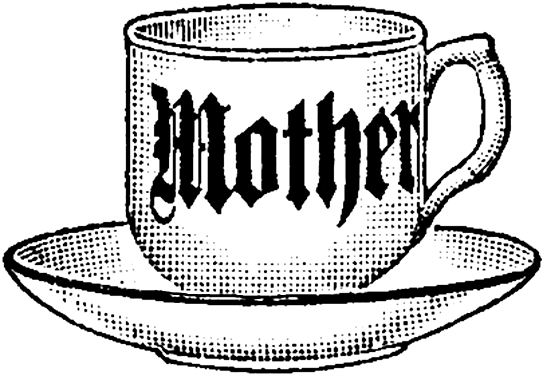 Vintage Mother Teacup Image