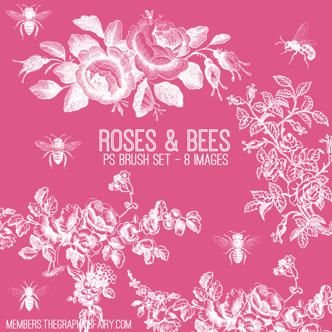 bee_rose_brushes_graphicsfairy