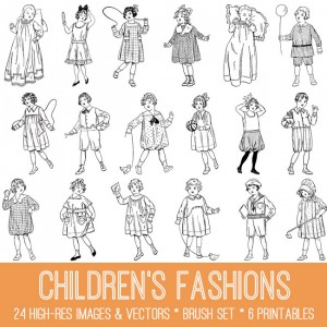 Vintage Children's Fashions Image