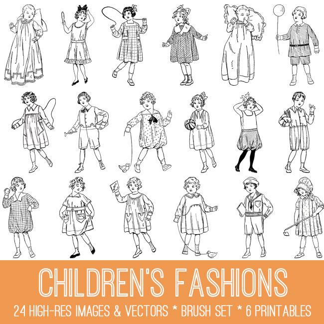 Vintage Children's Fashions Image