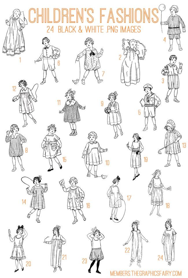 children_fashions_image_list_graphicsfairy