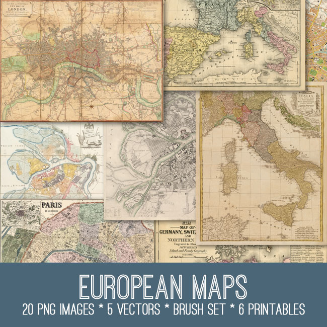European Maps Image Kit
