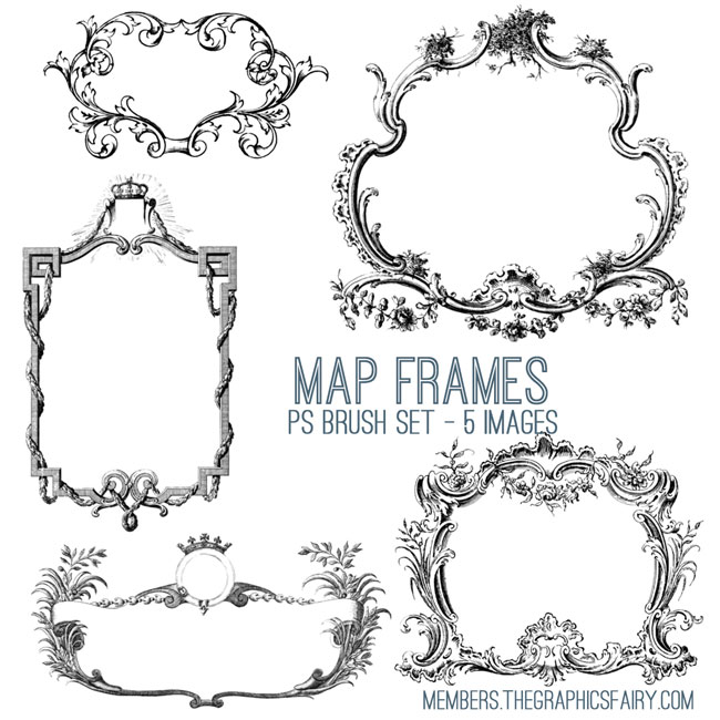 map_frames_brushes_graphicsfairy
